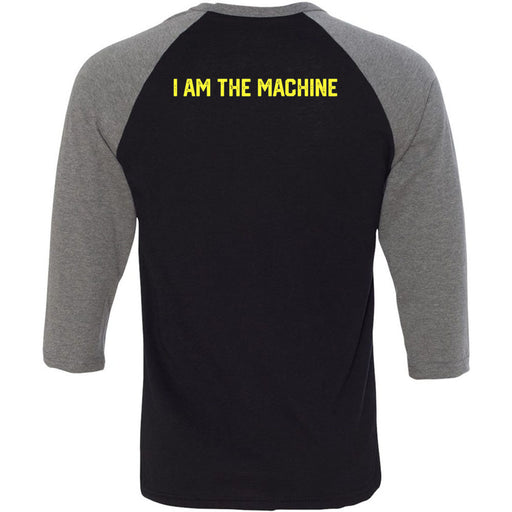 CrossFit ThunderHawk - 202 - I Am The Machine - Bella + Canvas - Men's Three-Quarter Sleeve Baseball T-Shirt