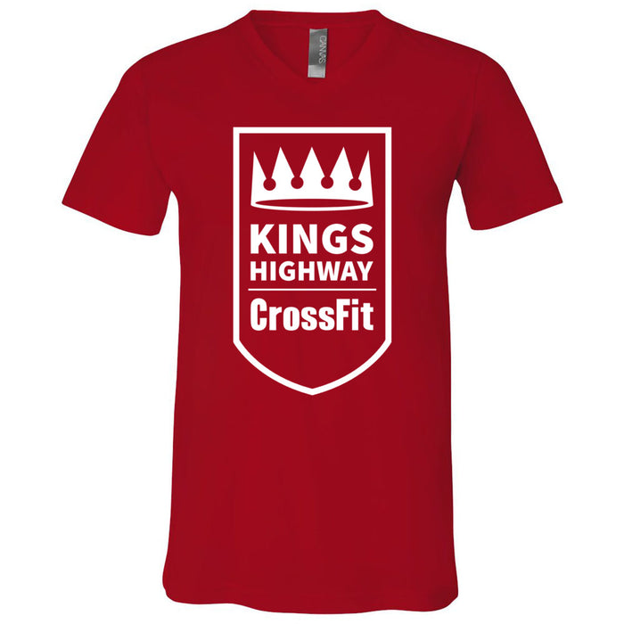 Kings Highway CrossFit - 100 - One Color - Bella + Canvas - Men's Short Sleeve V-Neck Jersey Tee