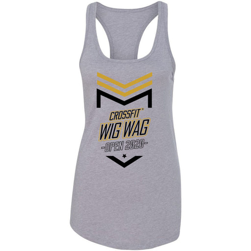 CrossFit Wig Wag - 100 - 2020 Open 20.2 Gold - Next Level - Women's Ideal Racerback Tank