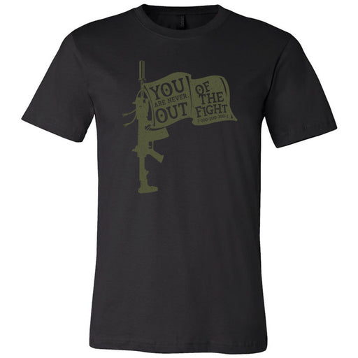 AMP Premium - 100 - You Are Never Out of the Fight - Bella + Canvas - Men's Short Sleeve Jersey Tee