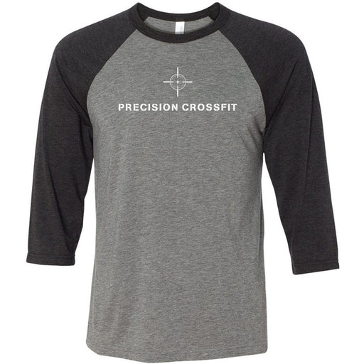 Precision CrossFit - 100 - Standard - Bella + Canvas - Men's Three-Quarter Sleeve Baseball T-Shirt