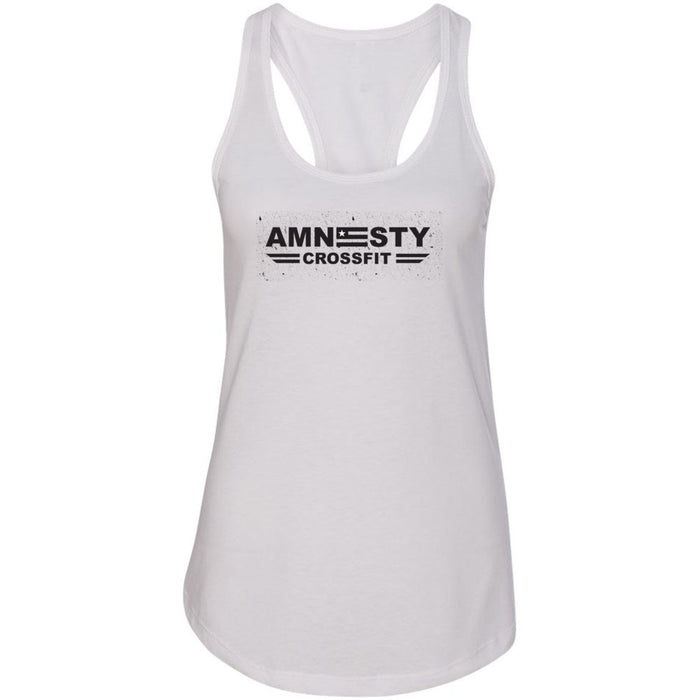Amnesty CrossFit - Distressed - Next Level - Women's Ideal Racerback Tank