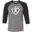 CrossFit Constant Conditioning - 100 - White Design - Bella + Canvas - Men's Three-Quarter Sleeve Baseball T-Shirt