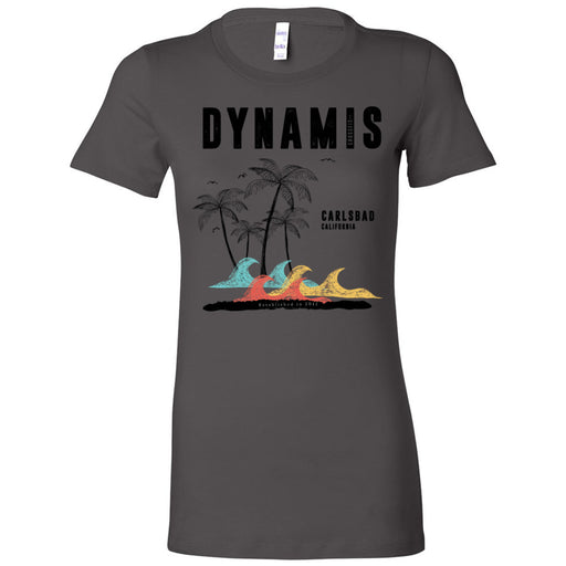 Dynamis CrossFit - 100 - Palm Tree Black - Bella + Canvas - Women's The Favorite Tee
