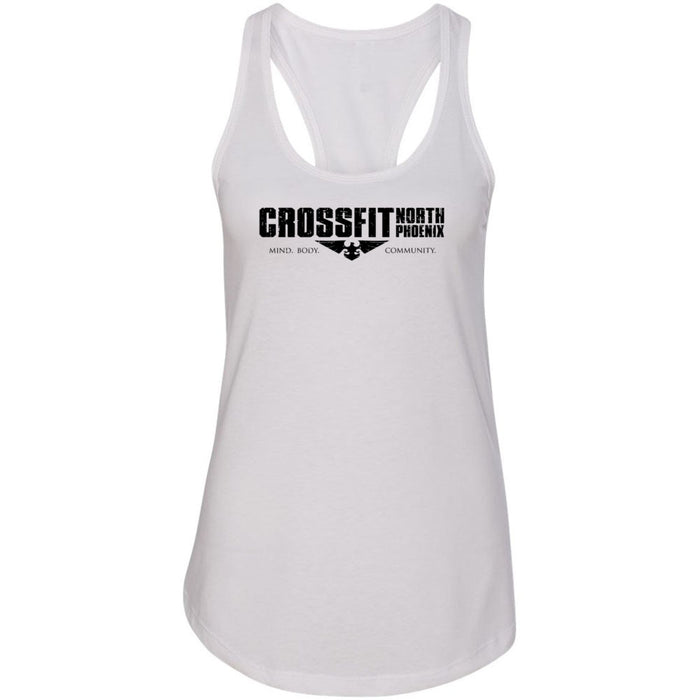 CrossFit North Phoenix - 100 - 1 Sided Print - Next Level - Women's Ideal Racerback Tank