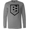 Brave Enough CrossFit - 202 - Shield - Bella + Canvas 3501 - Men's Long Sleeve Jersey Tee