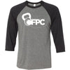 CrossFit Pell City - 100 - White - Bella + Canvas - Men's Three-Quarter Sleeve Baseball T-Shirt