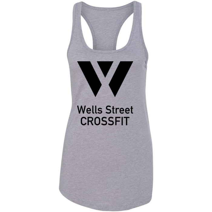 Wells Street CrossFit - 100 - Stacked - Next Level - Women's Ideal Racerback Tank