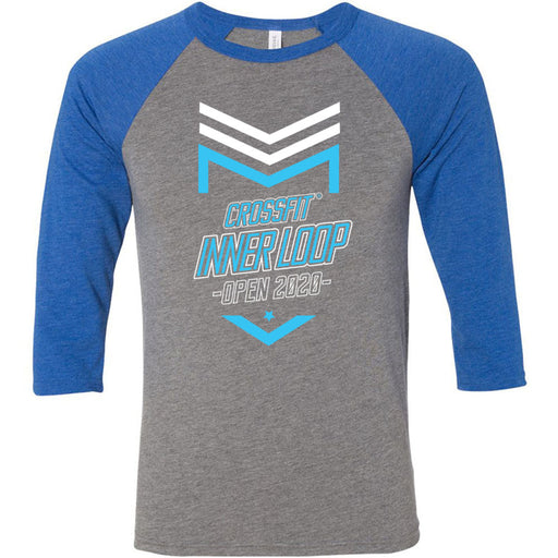 CrossFit Inner Loop - 100 - 2020 Open - Bella + Canvas - Men's Three-Quarter Sleeve Baseball T-Shirt