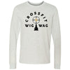 CrossFit Wig Wag - 100 - Standard - Bella + Canvas 3501 - Men's Long Sleeve Jersey Tee