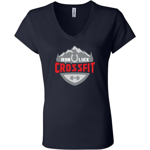 Iron Luck CrossFit - 100 - Standard - Bella + Canvas - Women's Short Sleeve Jersey V-Neck Tee