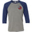 3 Star CrossFit - 100 - Pocket - Bella + Canvas - Men's Three-Quarter Sleeve Baseball T-Shirt