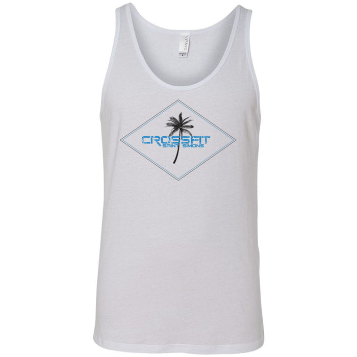 CrossFit Saint Simons - 100 - Palm Tee - Bella + Canvas - Men's Jersey Tank