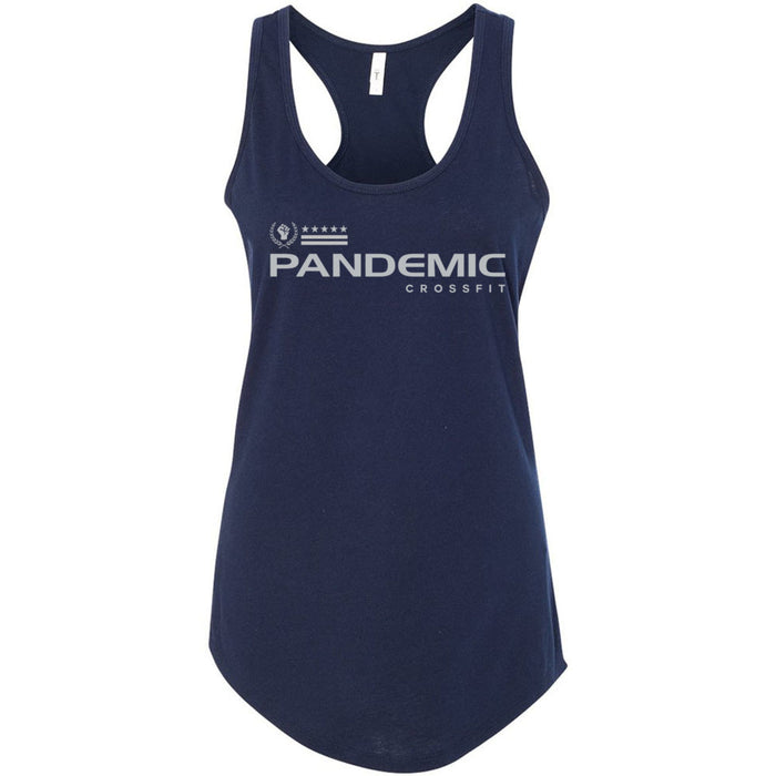 CrossFit Pandemic - 100 - Gray - Next Level - Women's Ideal Racerback Tank