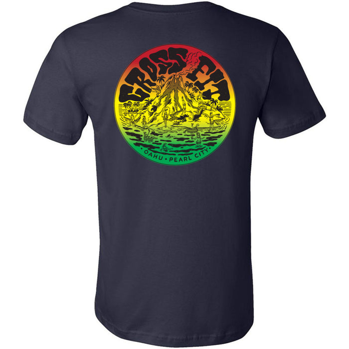 CrossFit Oahu - 200 - Vintage Island Rasta - Bella + Canvas - Men's Short Sleeve Jersey Tee
