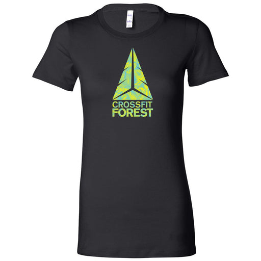 CrossFit Forest - 100 - Palms Neon Green - Bella + Canvas - Women's The Favorite Tee