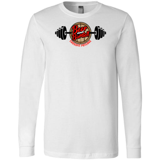 CrossFit Potcake - 100 - Beer and Barbell - Bella + Canvas 3501 - Men's Long Sleeve Jersey Tee