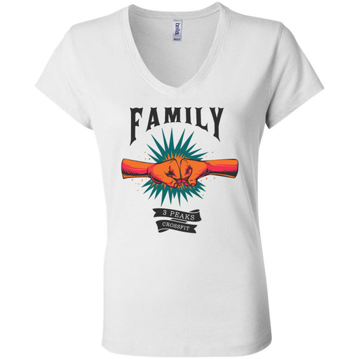 3 Peaks CrossFit - 100 - Family - Bella + Canvas - Women's Short Sleeve Jersey V-Neck Tee