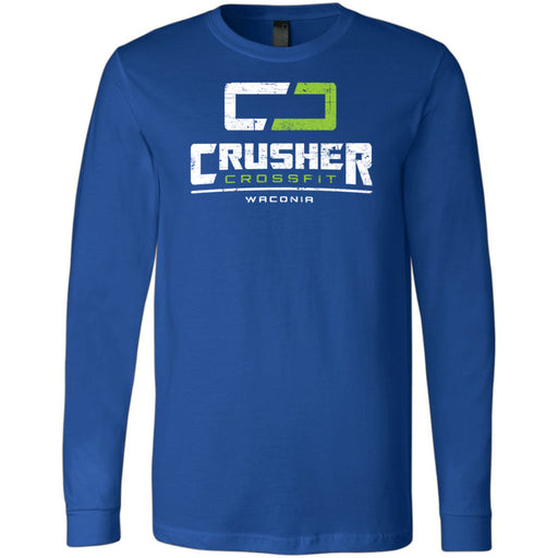 Crusher CrossFit - 100 - Standard - Bella + Canvas 3501 - Men's Long Sleeve Jersey Tee