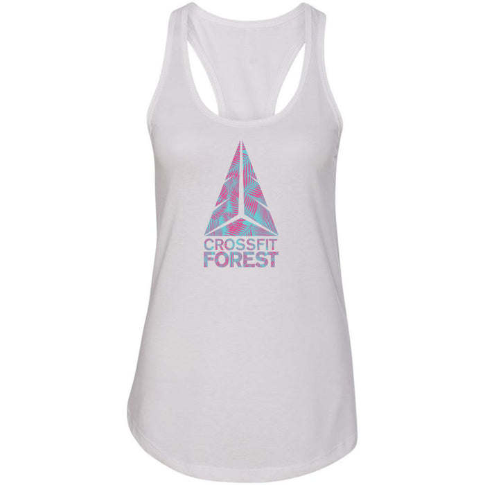 CrossFit Forest - 100 - Palms Pink - Next Level - Women's Ideal Racerback Tank