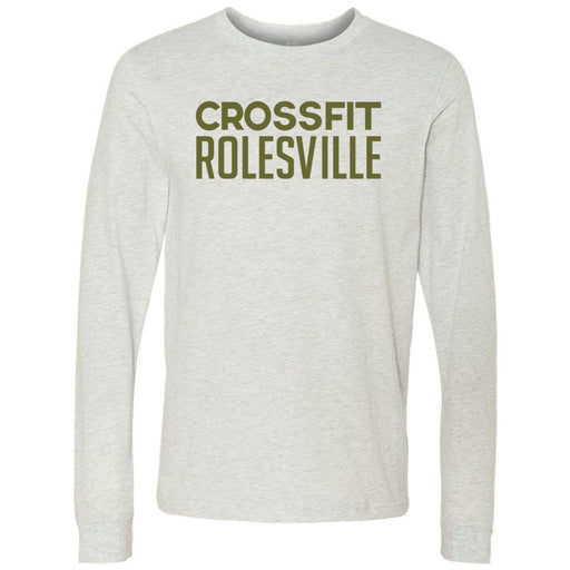 CrossFit Rolesville - 100 - Military Green - Bella + Canvas 3501 - Men's Long Sleeve Jersey Tee