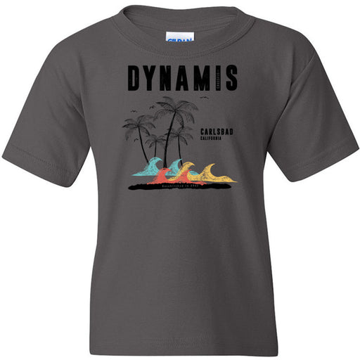 Dynamis CrossFit - 100 - Palm Tree Black - Gildan - Heavy Cotton Youth T-Shirt
