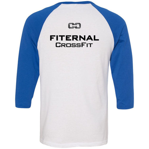 Fiternal CrossFit - 202 - Nutrition - Bella + Canvas - Men's Three-Quarter Sleeve Baseball T-Shirt