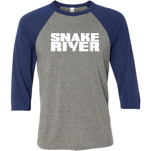 Snake River CrossFit - 100 - Standard - Bella + Canvas - Men's Three-Quarter Sleeve Baseball T-Shirt