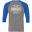 Hub City CrossFit - 100 - CC1 - Bella + Canvas - Men's Three-Quarter Sleeve Baseball T-Shirt