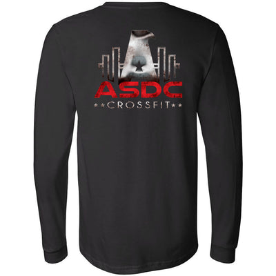 ASDC CrossFit - 202 - So Strong - Bella + Canvas 3501 - Men's Long Sleeve Jersey Tee