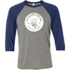 CrossFit Bruin - 100 - Standard - Bella + Canvas - Men's Three-Quarter Sleeve Baseball T-Shirt