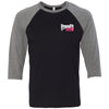Crossfit 1926 - 202 - Breast Cancer Awareness - Bella + Canvas - Men's Three-Quarter Sleeve Baseball T-Shirt