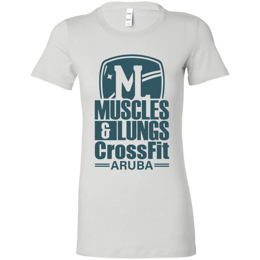 Muscles & Lungs CrossFit - 100 - Teal - Bella + Canvas - Women's The Favorite Tee