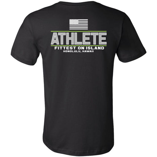 CrossFit Oahu - 200 - Fittest White Green - Bella + Canvas - Men's Short Sleeve Jersey Tee