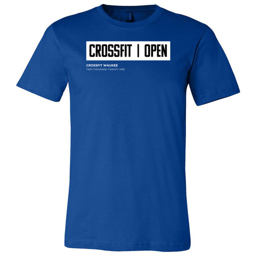 CrossFit Waukee - 100 - The Open (Open Box) - Bella + Canvas - Men's Short Sleeve Jersey Tee