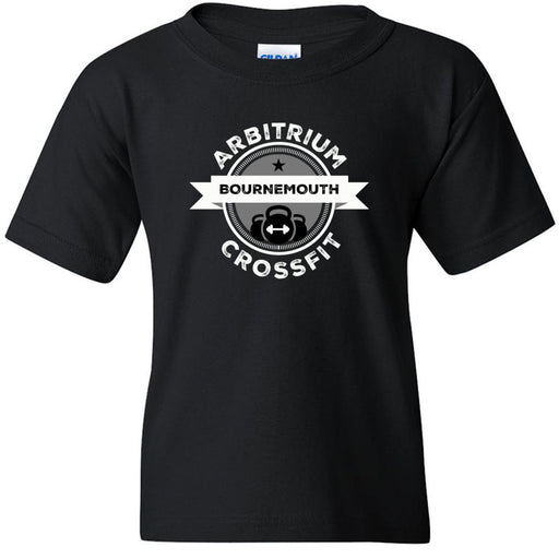 Arbitrium CrossFit - 100 - Black and White - Gildan - Heavy Cotton Youth T-Shirt