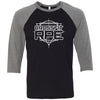 CrossFit RPE - 100 - White - Bella + Canvas - Men's Three-Quarter Sleeve Baseball T-Shirt