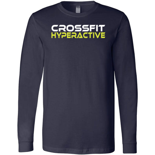 CrossFit Hyperactive - 100 - Standard - Bella + Canvas 3501 - Men's Long Sleeve Jersey Tee