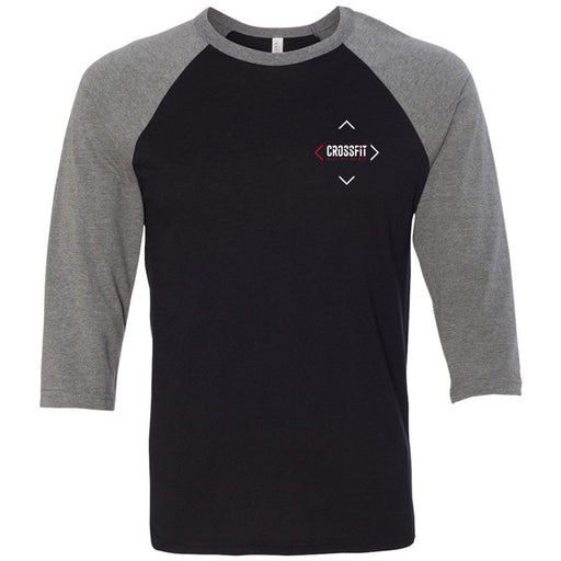 CrossFit West Des Moines - 202 - Journey - Bella + Canvas - Men's Three-Quarter Sleeve Baseball T-Shirt
