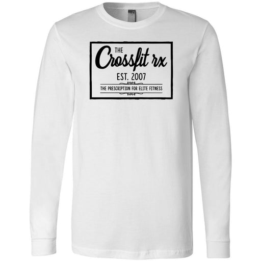 CrossFit Rx - 100 - Old Style - Bella + Canvas 3501 - Men's Long Sleeve Jersey Tee