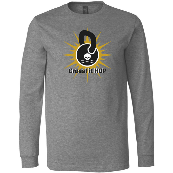 CrossFit HOP - 100 - Standard - Bella + Canvas 3501 - Men's Long Sleeve Jersey Tee