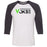CrossFit Vokse - 100 - Standard - Bella + Canvas - Men's Three-Quarter Sleeve Baseball T-Shirt