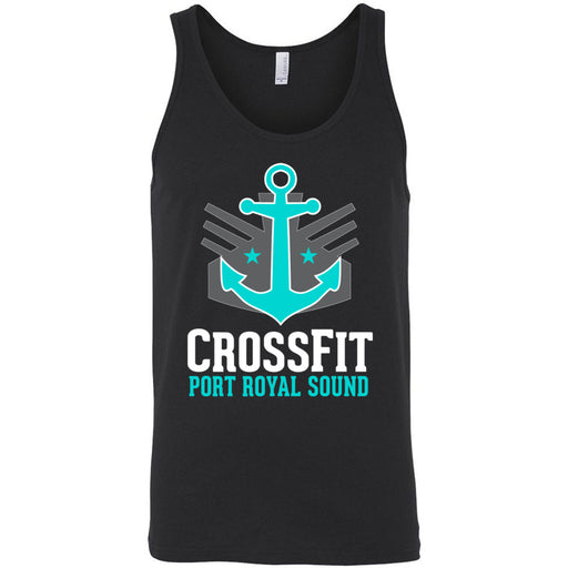 CrossFit Port Royal Sound - 100 - Stacked - Bella + Canvas - Men's Jersey Tank
