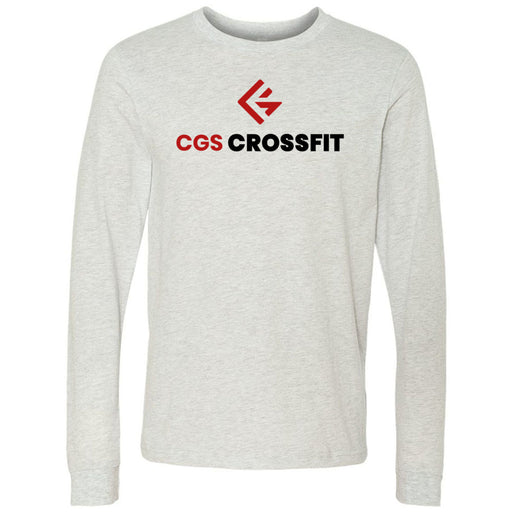 CGS CrossFit - 100 - Stacked - Bella + Canvas 3501 - Men's Long Sleeve Jersey Tee