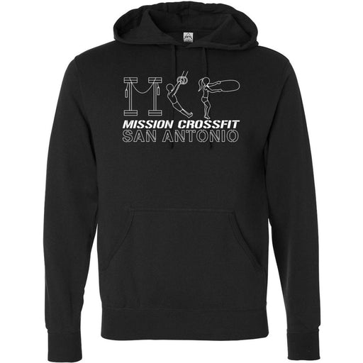 Mission CrossFit San Antonio - 100 - Gym - Independent - Hooded Pullover Sweatshirt