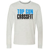 Top Gun CrossFit - 100 - Distressed - Bella + Canvas 3501 - Men's Long Sleeve Jersey Tee