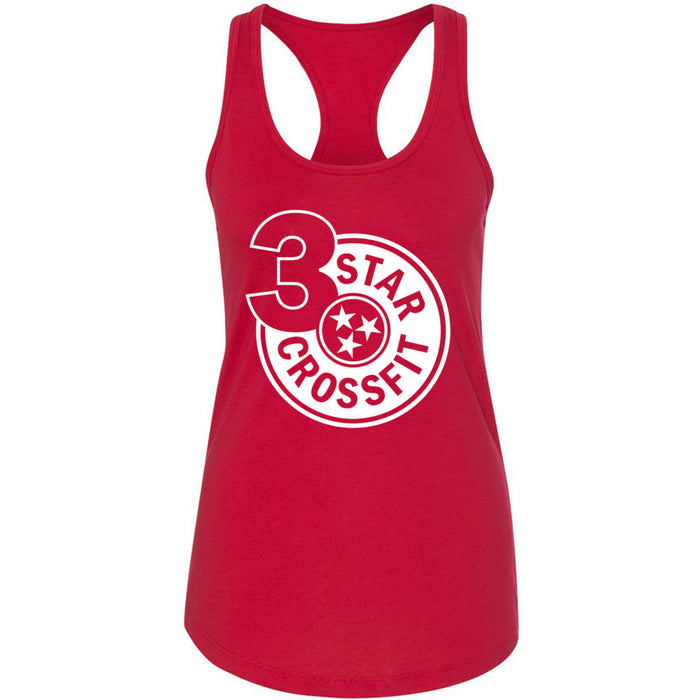 3 Star CrossFit - 100 - One Color - Next Level - Women's Ideal Racerback Tank