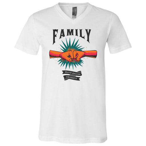 Brave Enough CrossFit - 100 - Family - Bella + Canvas - Men's Short Sleeve V-Neck Jersey Tee