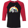 CrossFit Loft - 202 - Unicorn 2 - Bella + Canvas - Men's Three-Quarter Sleeve Baseball T-Shirt
