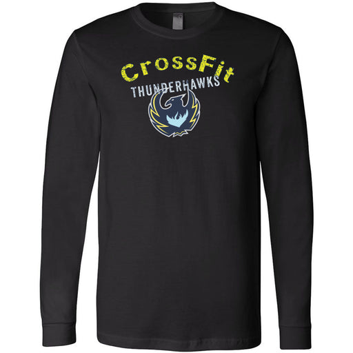 CrossFit ThunderHawk - 100 - ThunderHawks - Bella + Canvas 3501 - Men's Long Sleeve Jersey Tee